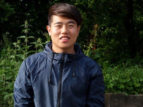 Nam Tae Hoon (23) aus Südkorea…..