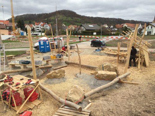 Spielplatz Kayh: Vierte Bauwoche
