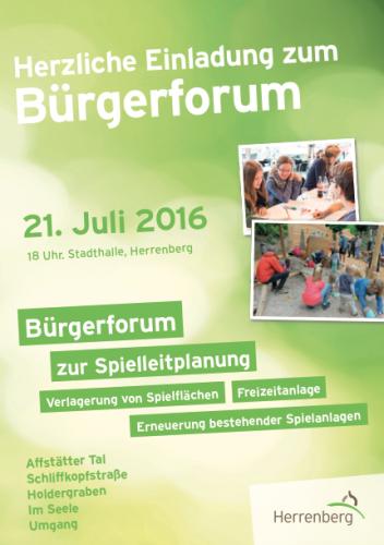 Einladung zum Bürgerforum am 21.07.2016