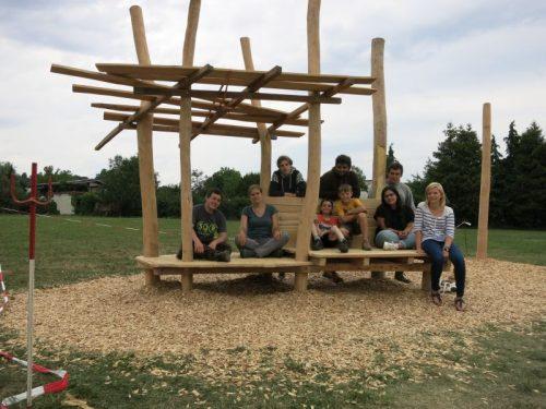 Gechillt Gebaut: Jugendliche bauen Chill-Ecke