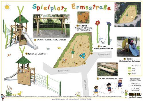 Spielplatz Ermsstrasse wird erneuert